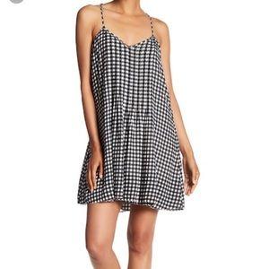 NWT Sanctuary spaghetti strap gingham dress
